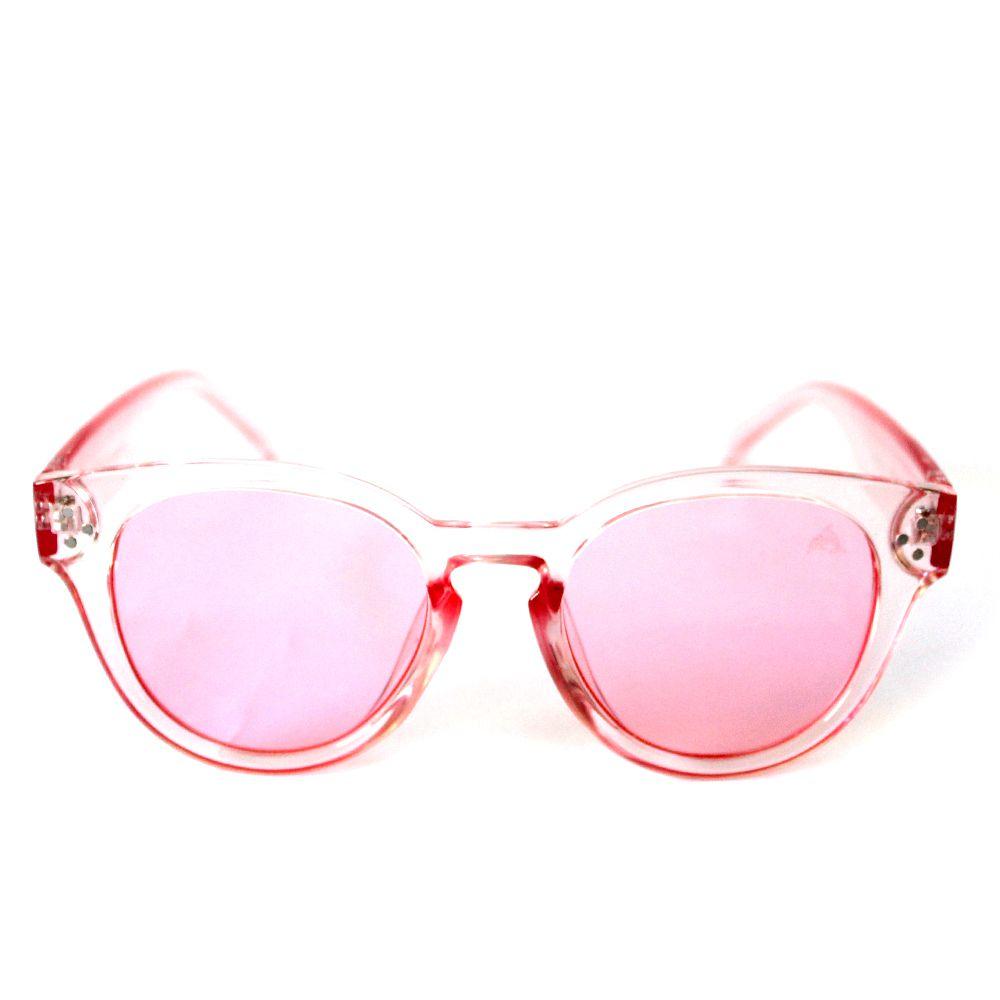 Óculos de Sol Redondo Rosa Cayo Blanco