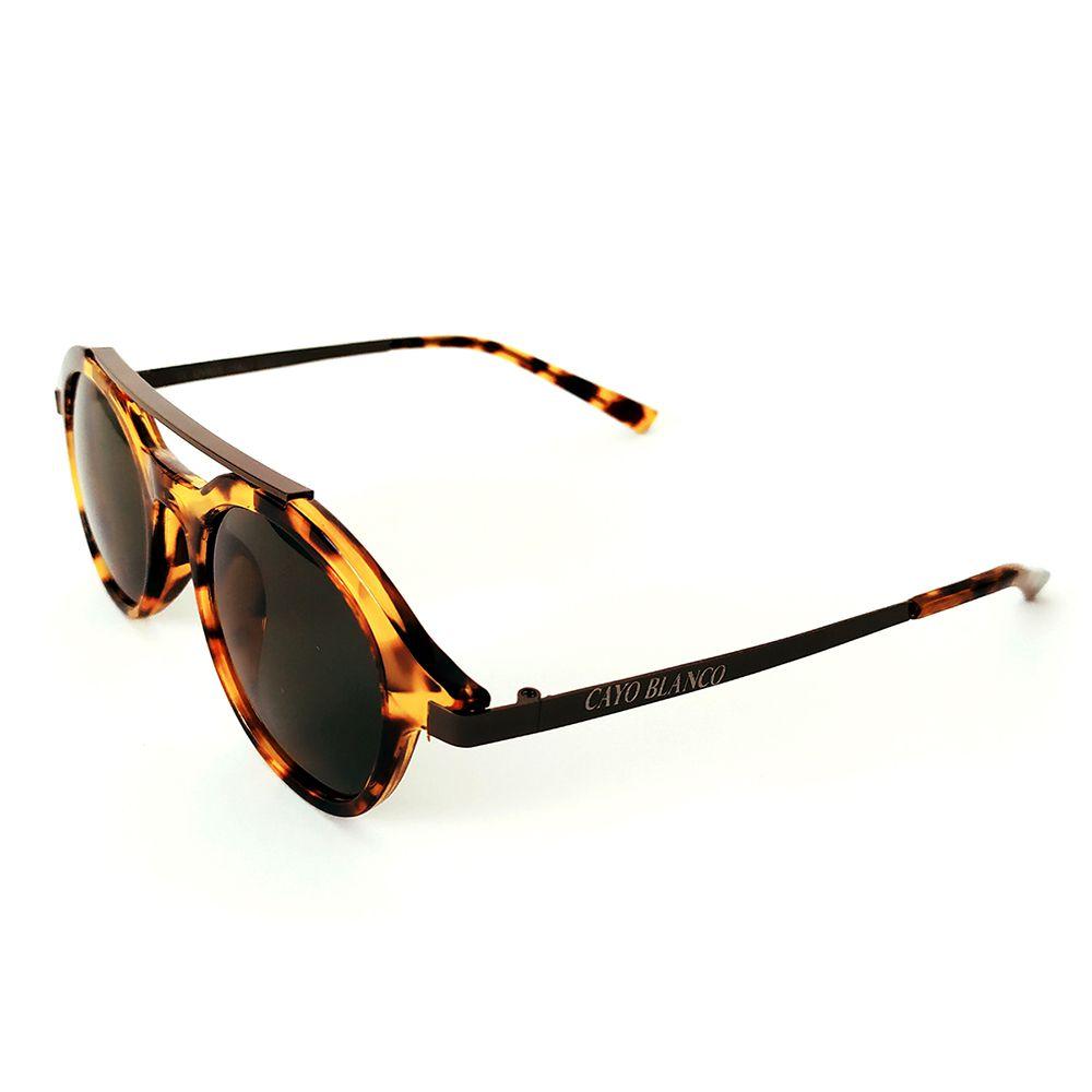 Óculos de Sol Redondo Tartaruga Cayo Blanco  - Cayo Blanco