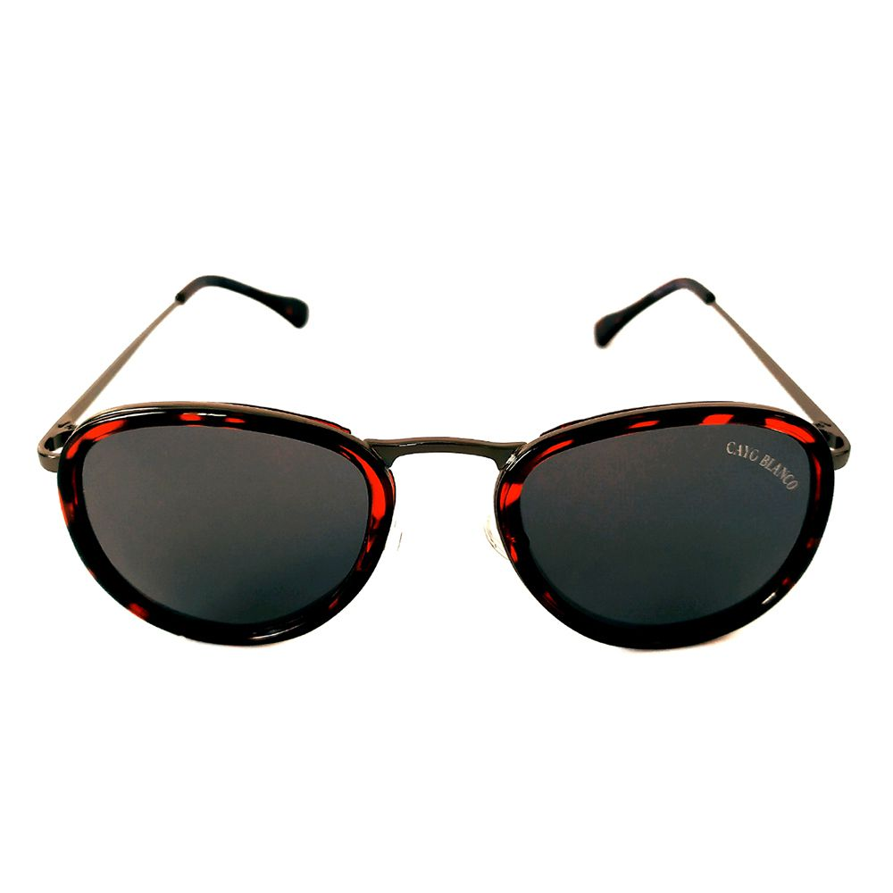 Óculos de Sol Redondo Tartaruga Vinho/Preto Cayo Blanco