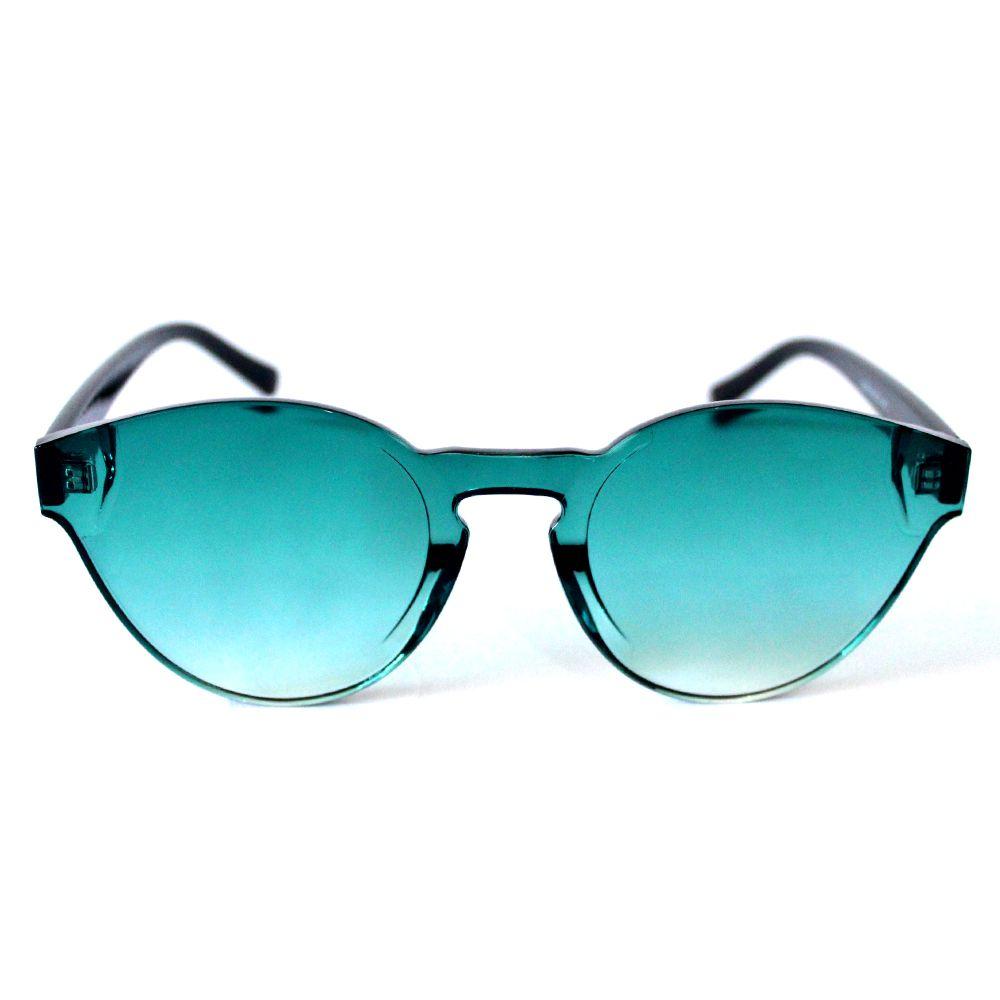 Óculos de Sol Redondo Verde Cayo Blanco