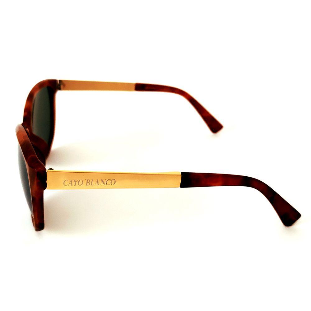 Óculos de Sol Wayfarer Marrom Cayo Blanco   - Cayo Blanco