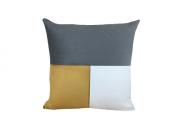 Almofada Veludo Dourado/Cinza 52x52