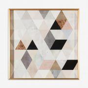 Quadro Watercolor Mosaic 61x61cm