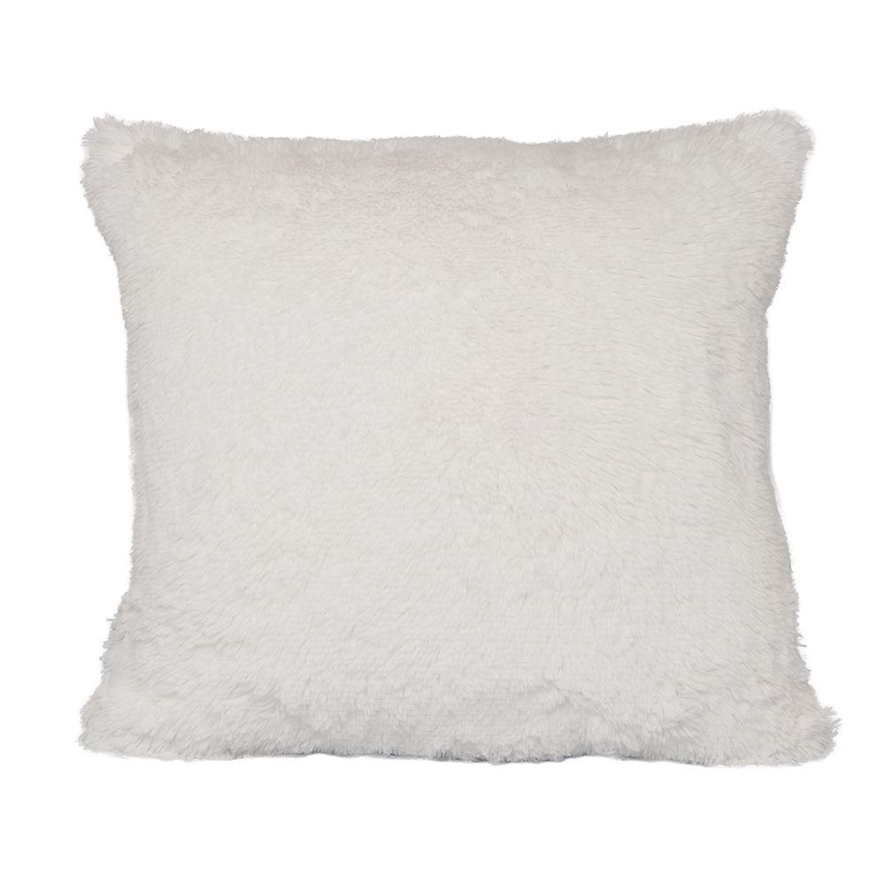 Almofada Peluda Branca 50x50cm