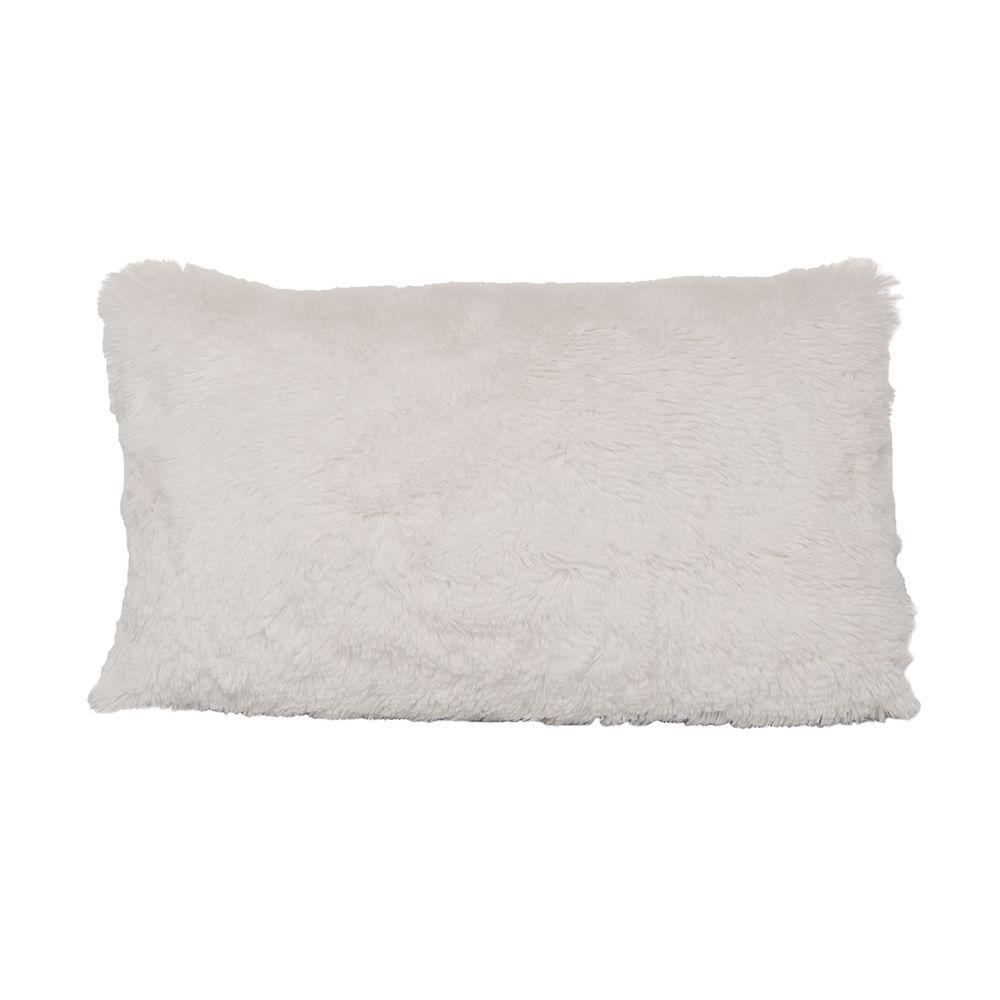 Almofada Peluda Branca Wide 50x30cm