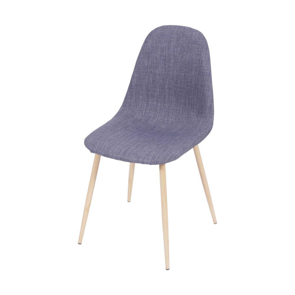 Cadeira Almofadada/ Linho Eames com Base em Metal