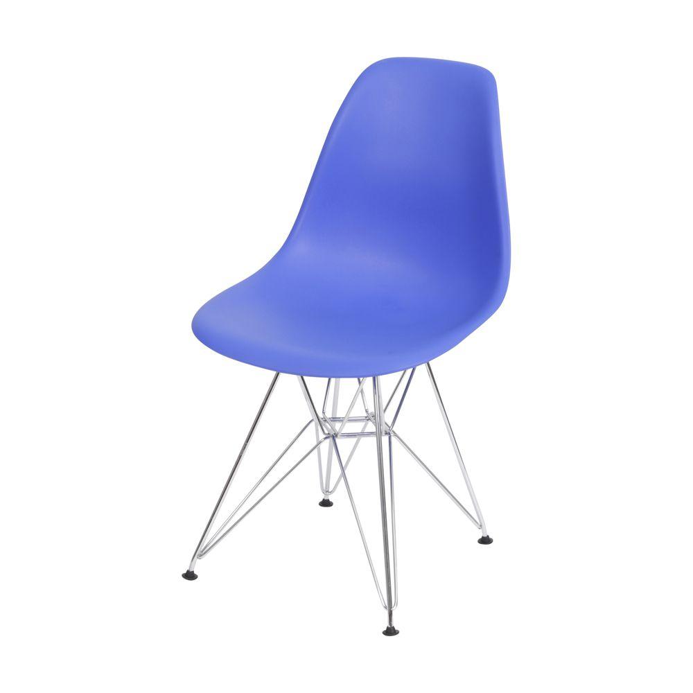 Cadeira Eames Eiffel Fosca com Base em Metal