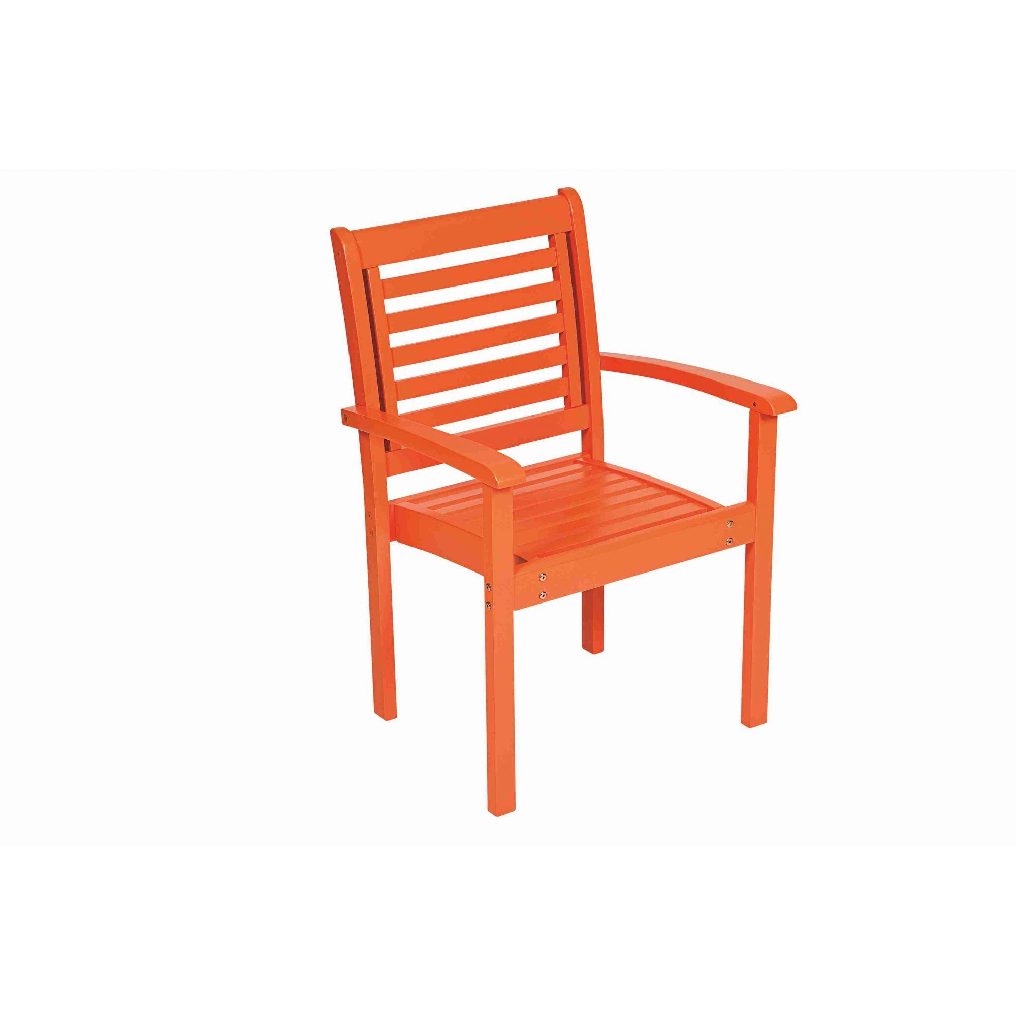 Cadeira Empilhável Milano com Braços - Laca