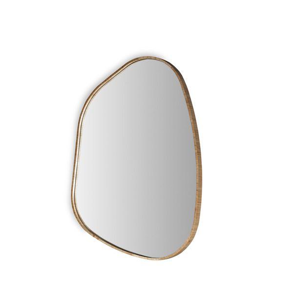 Espelho com Moldura Nogueira Duo Natural