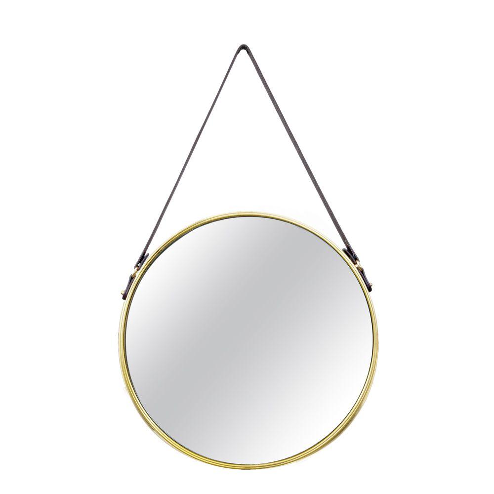 Espelho Dourado em Metal 75,5cm