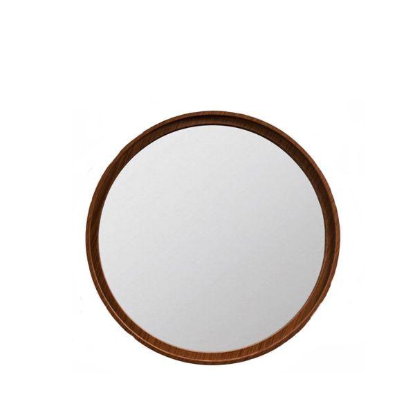 Espelho Madeira Round Natural Escuro 70cm