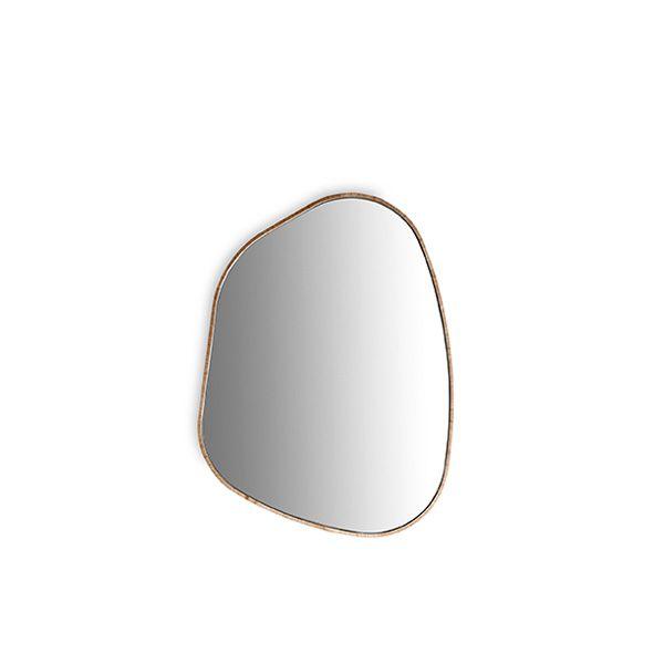 Espelho Moldura Nogueira Duo Natural