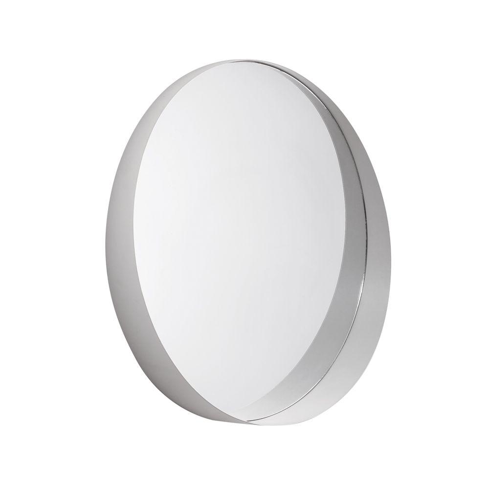 Espelho Off-White em Metal Redondo 50cm