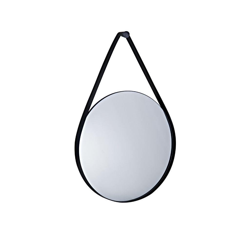 Espelho Preto em Metal 60cm