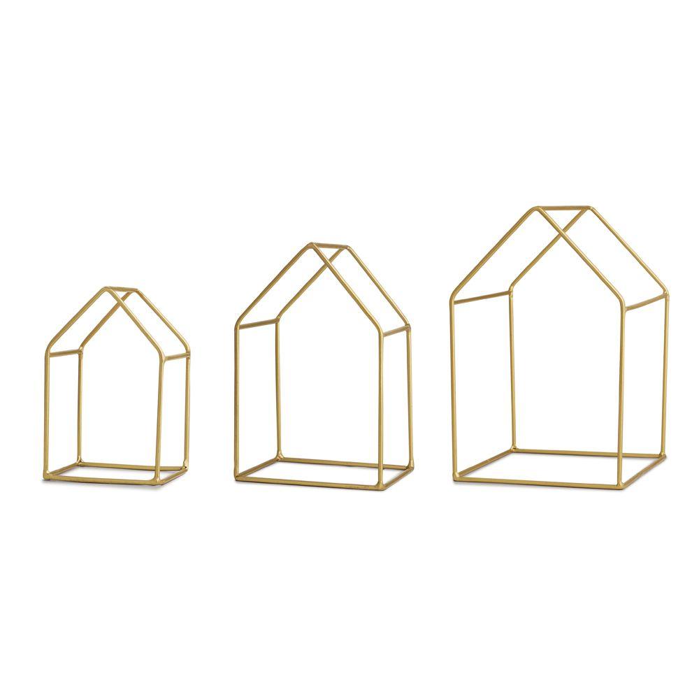 Kit Casa em Metal - 3 Pçs