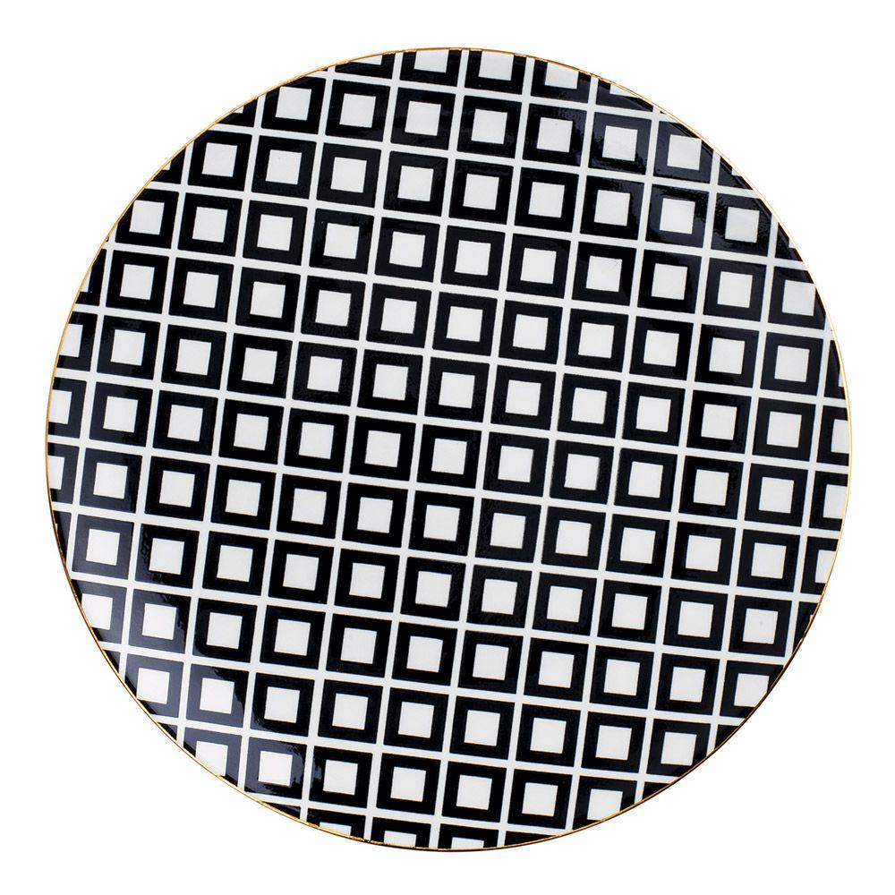 Prato Decorativo em Cerâmica 22cm