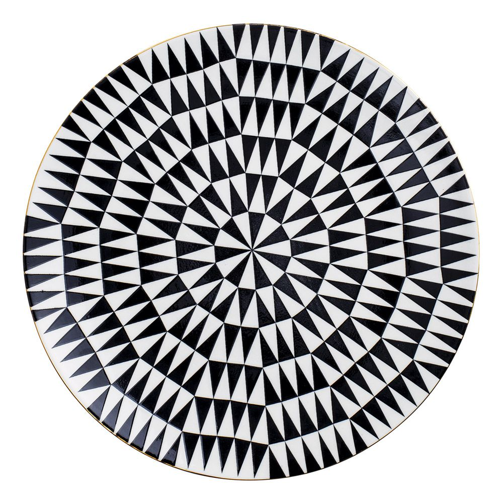 Prato Decorativo em Cerâmica 26cm
