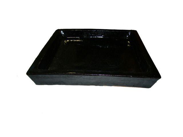 Prato P/ Vaso em Cerâmica Quadrado 29cm