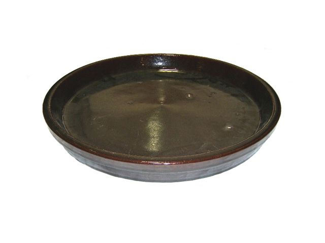 Prato P/ Vaso em Cerâmica Redondo