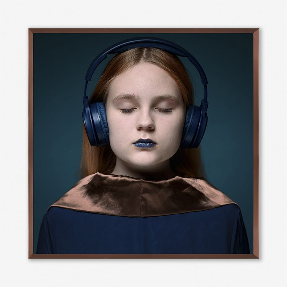 Quadro Blue Beats 123x123cm