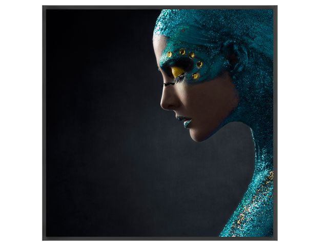 Quadro Blue Princess 103x103cm