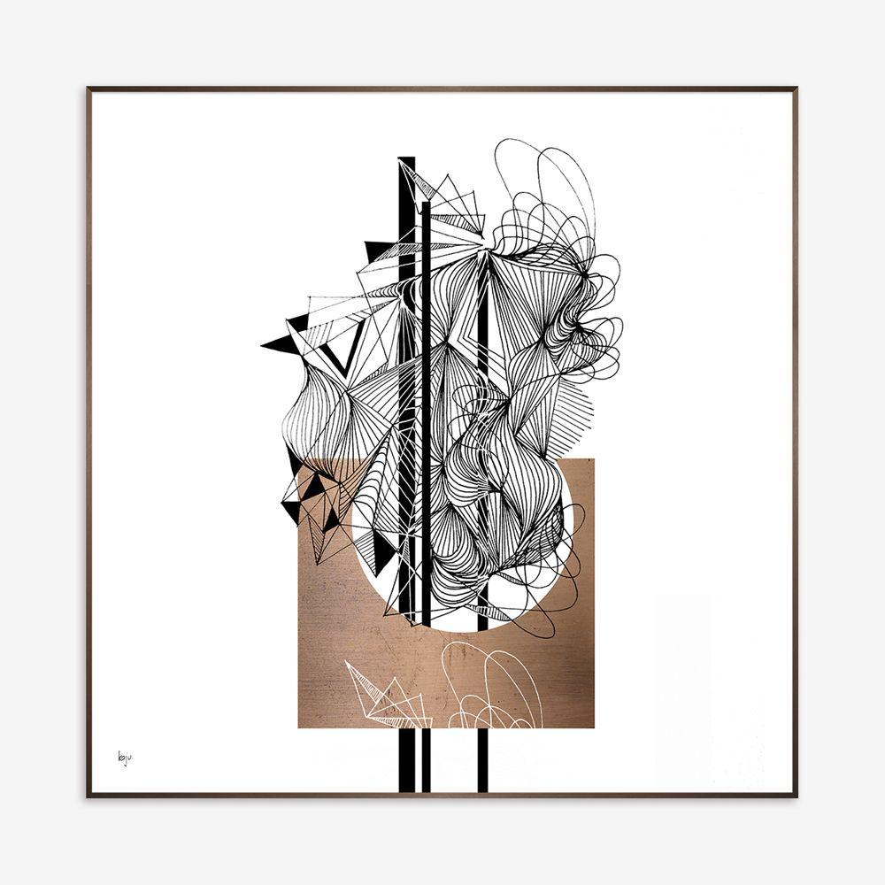 Quadro Cooper Abstract 91x91cm