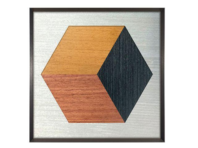 Quadro Hexa Wood 98x98cm