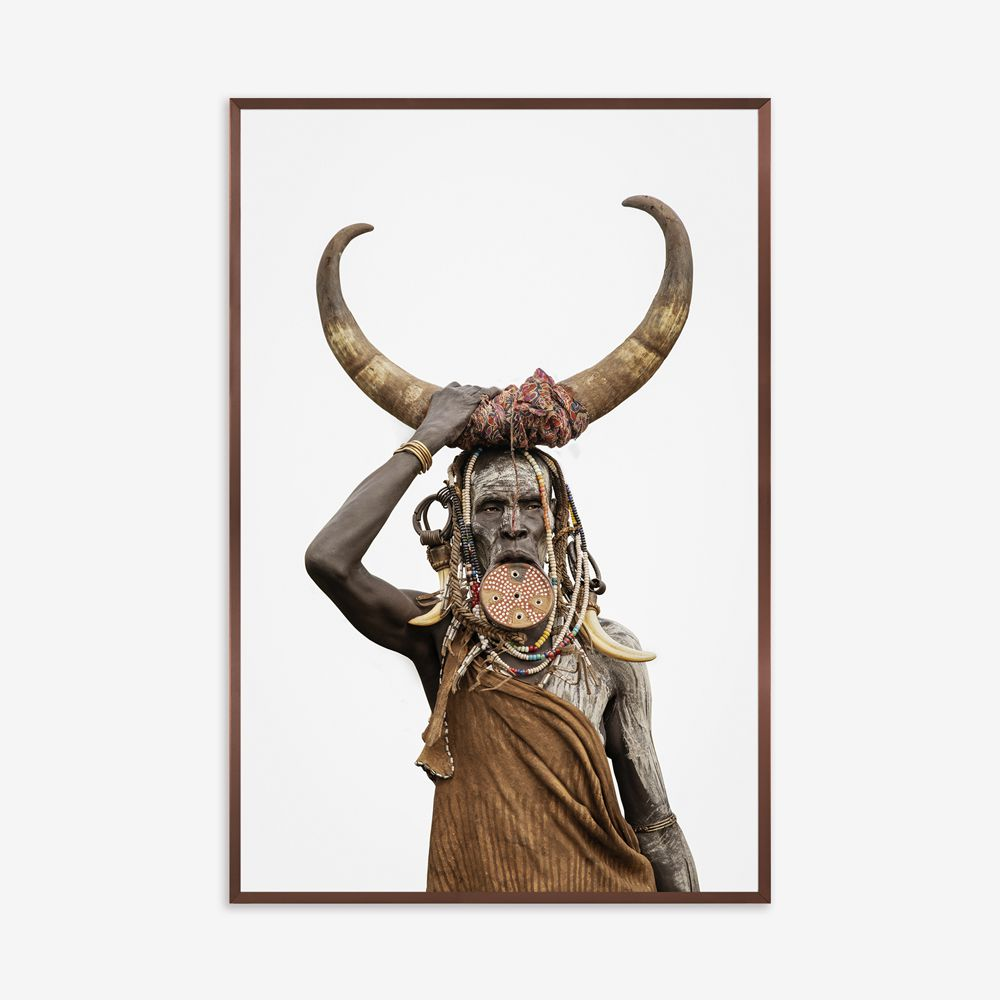 Quadro Horn - Mursi Tribe 123x183cm