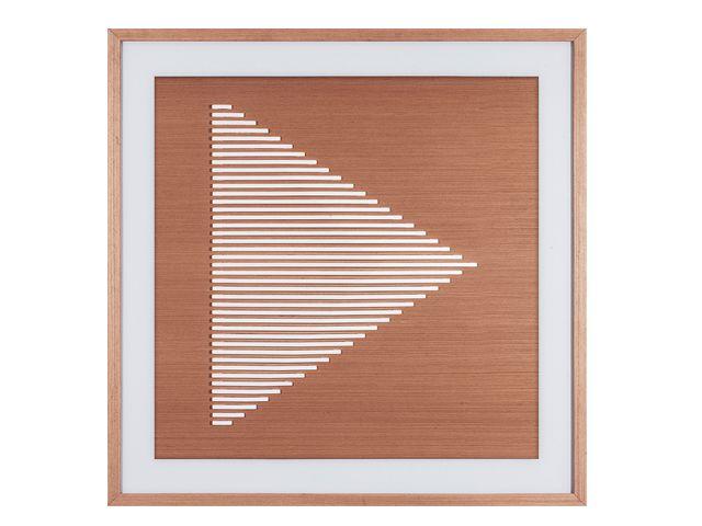 Quadro Linha Polis Rosa/Branco 72x72cm