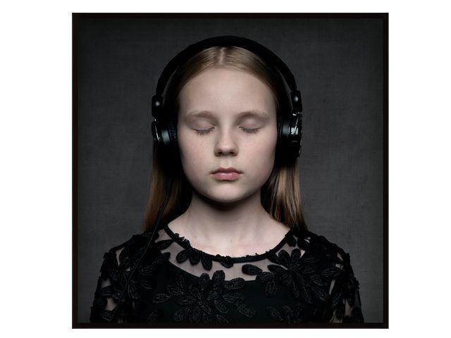 Quadro Night Music 123x123cm