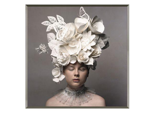 Quadro Paper Gardenist 123x123cm