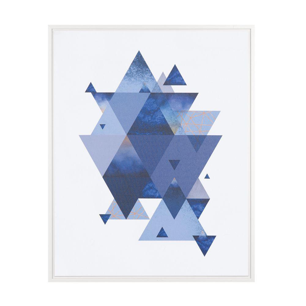 Quadro Triângulos em Canvas 40x50cm