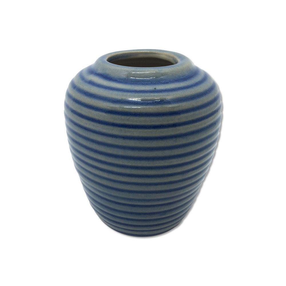Vaso Alto Laila Azul Listrado 11cm