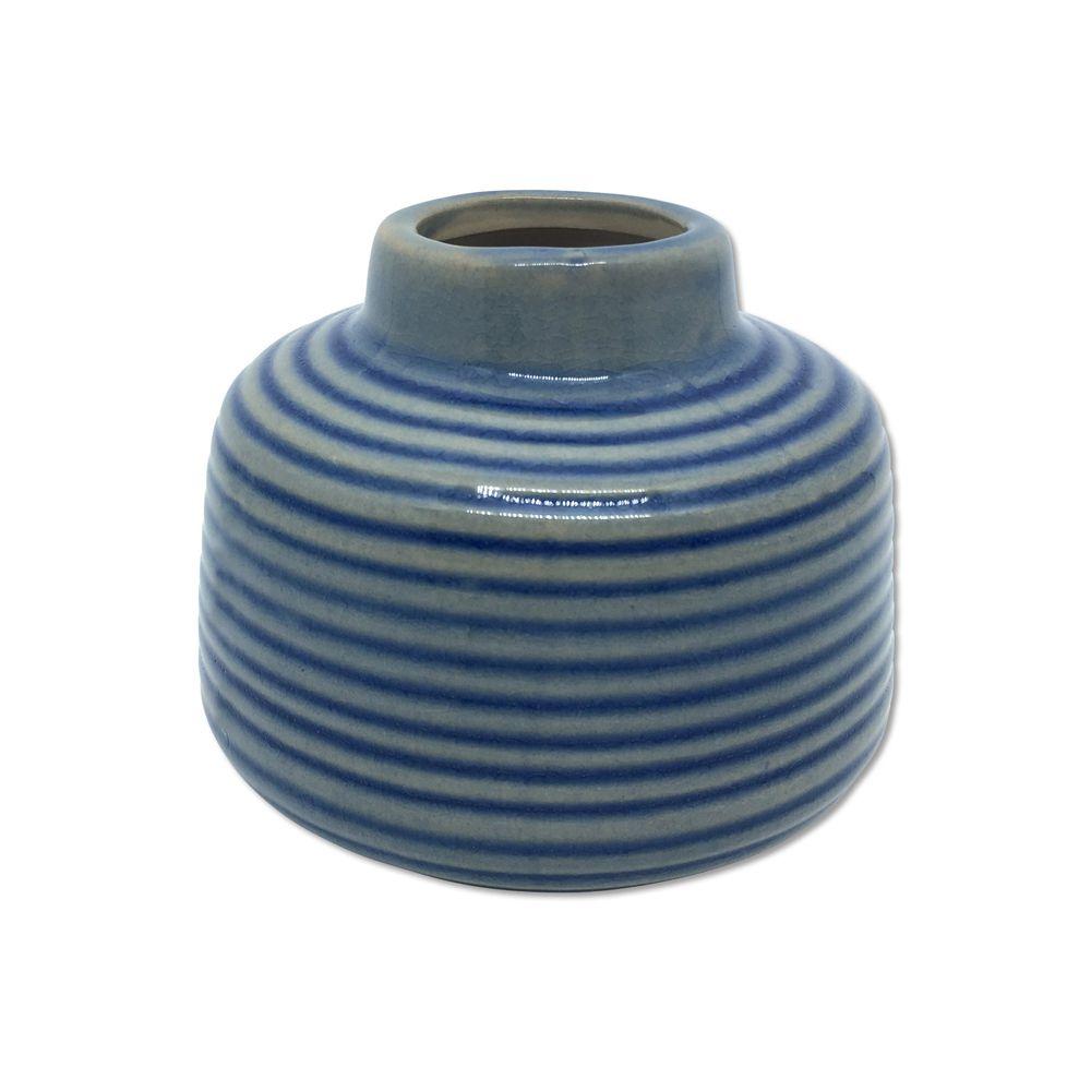 Vaso Baixo Laila Azul Listrado