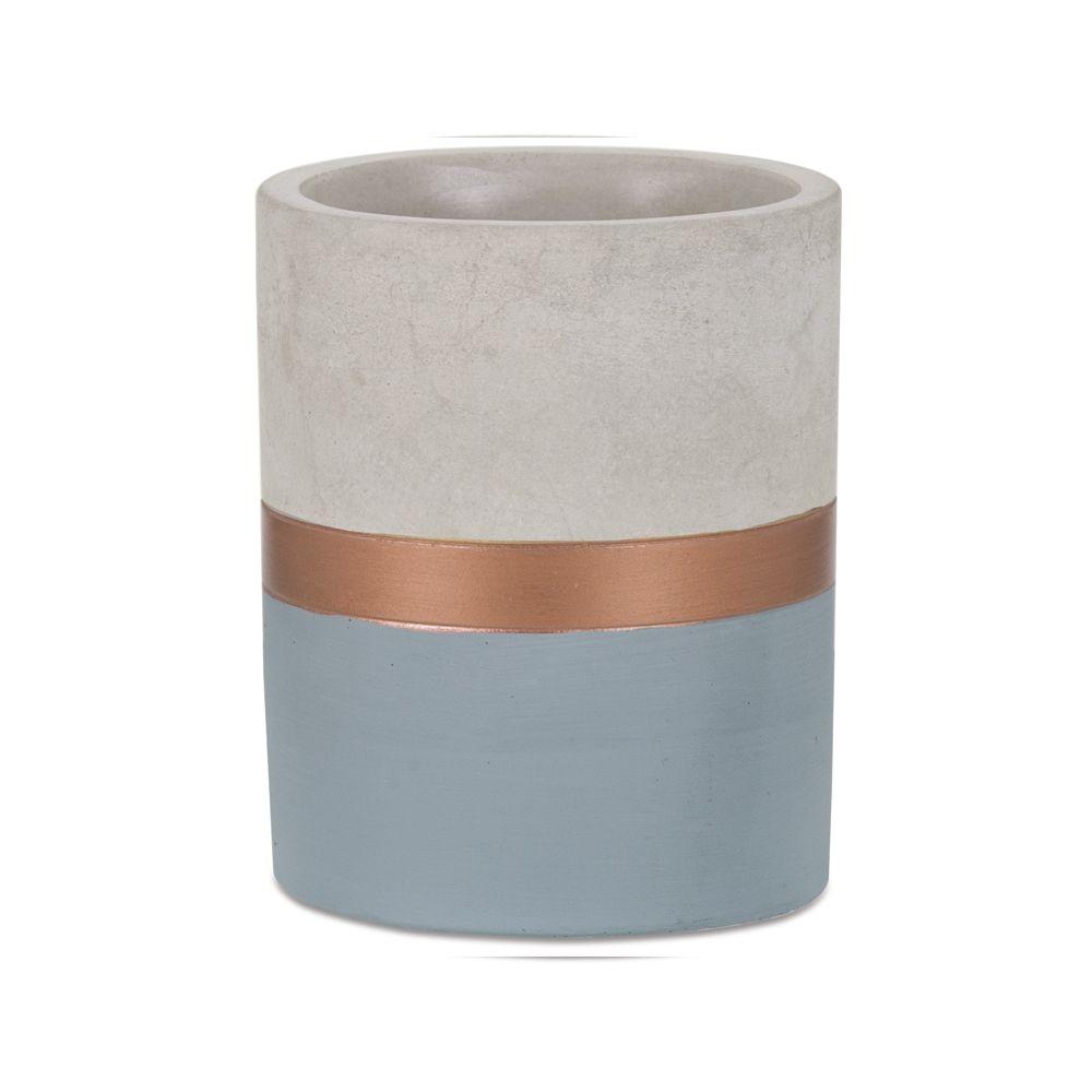 Vaso Cobre e Cimento 11cm - Várias Cores