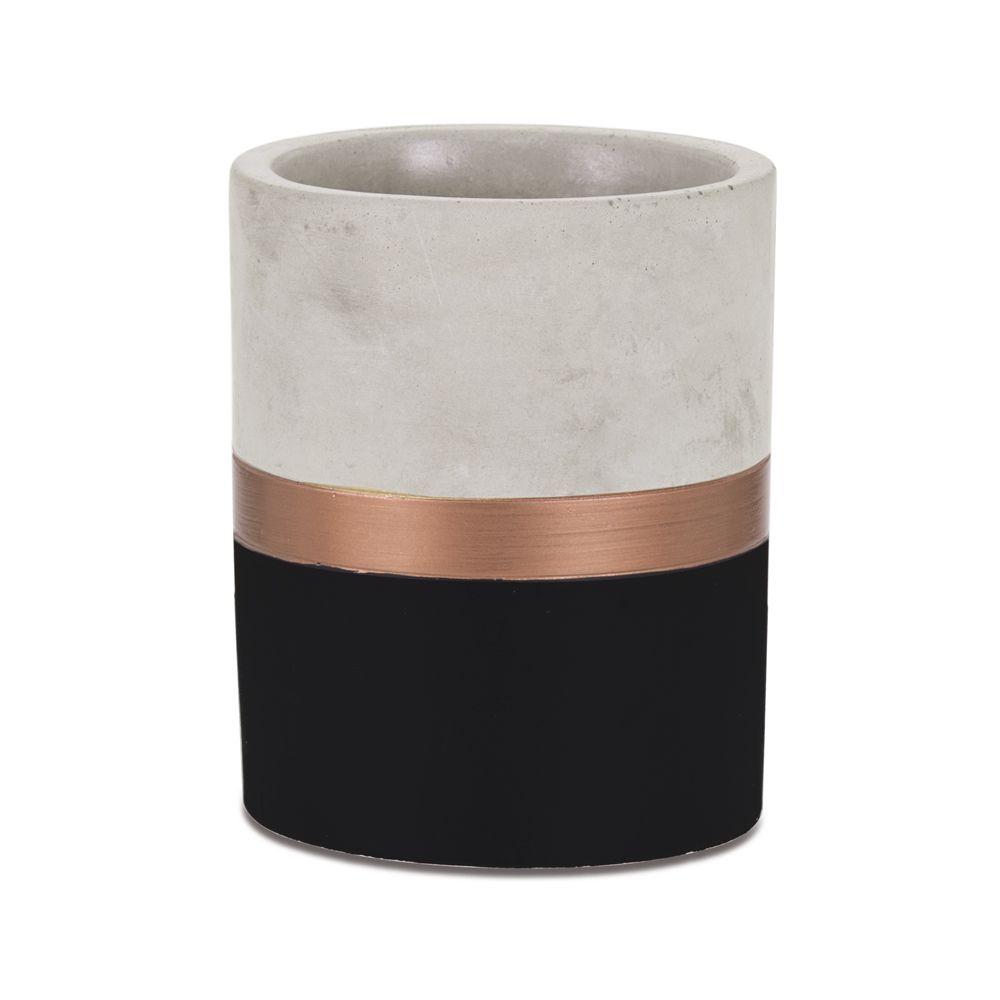 Vaso Cobre e Cimento 13cm - Várias Cores