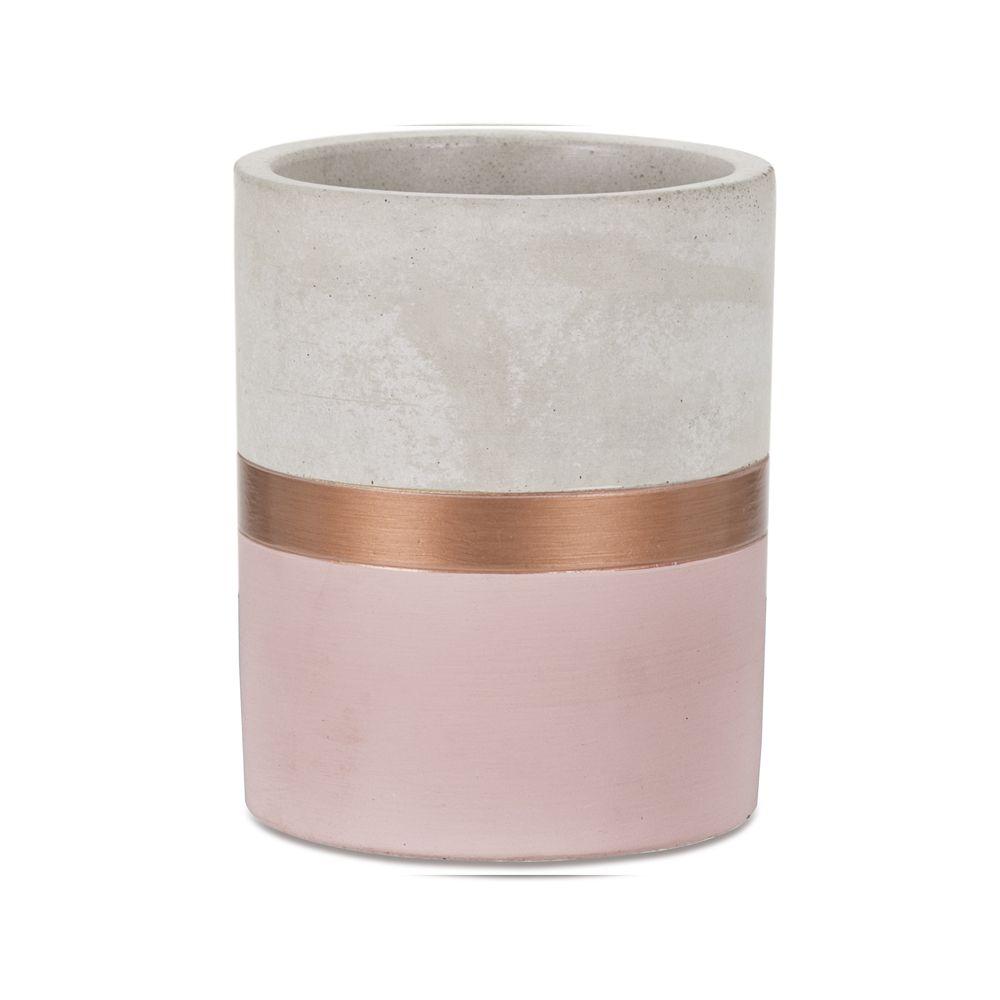 Vaso Cobre e Cimento 9cm - Várias Cores