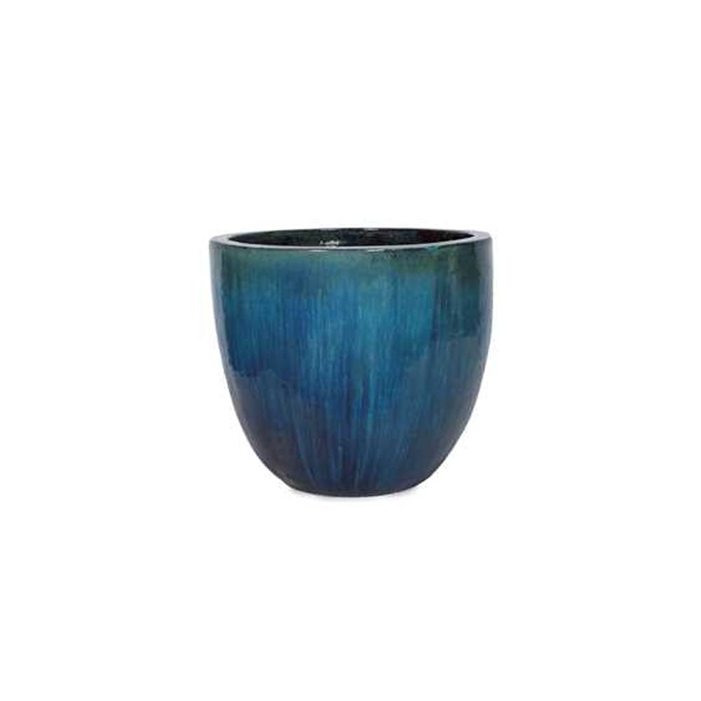 Vaso em Cerâmica Redondo Egg 56x46cm