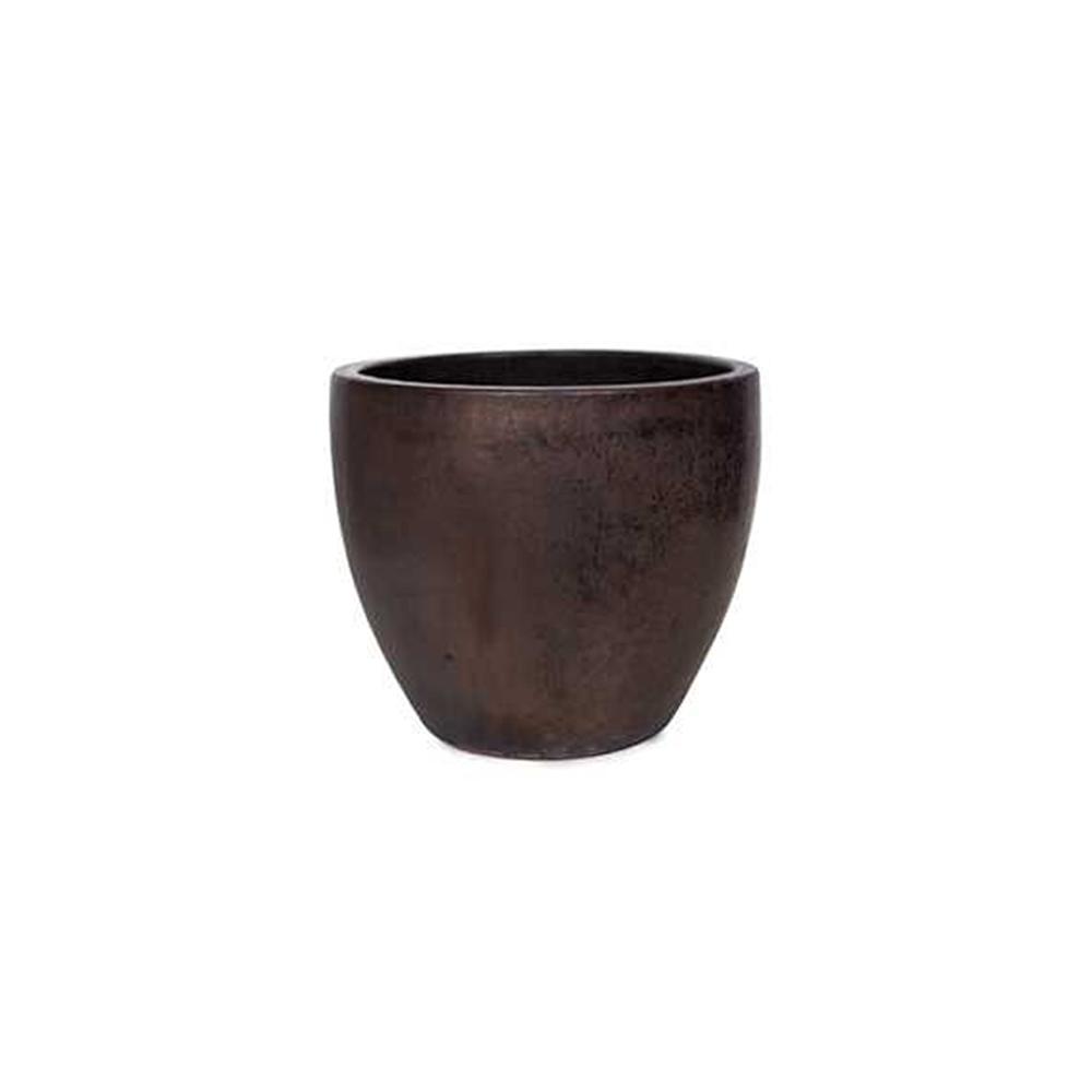 Vaso em Cerâmica Redondo Egg 58x50cm