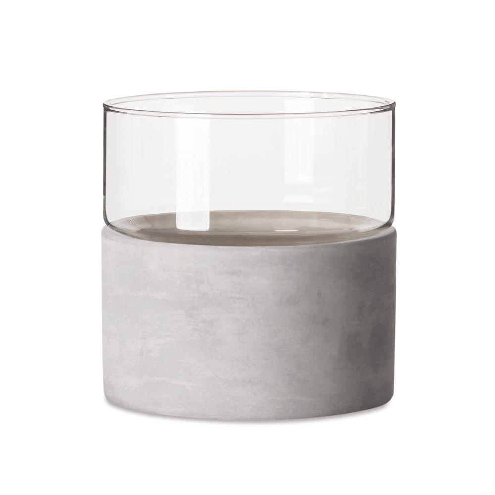 Vaso em Vidro e Cimento