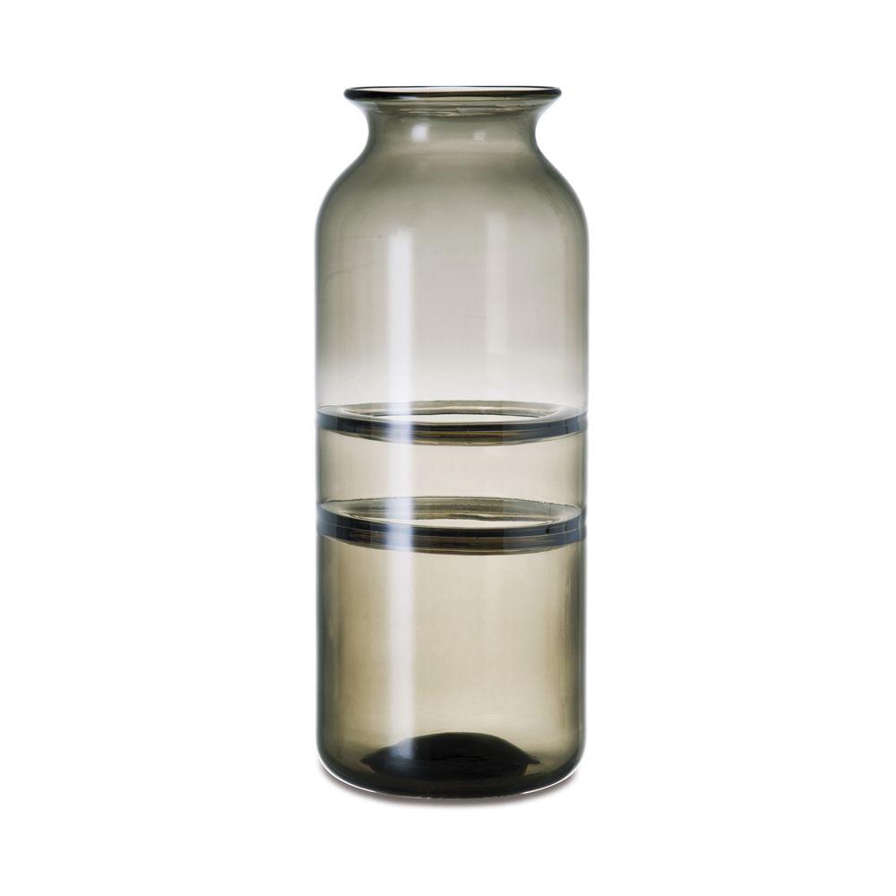 Vaso Fumê/Marrom em Vidro 16x39,5cm