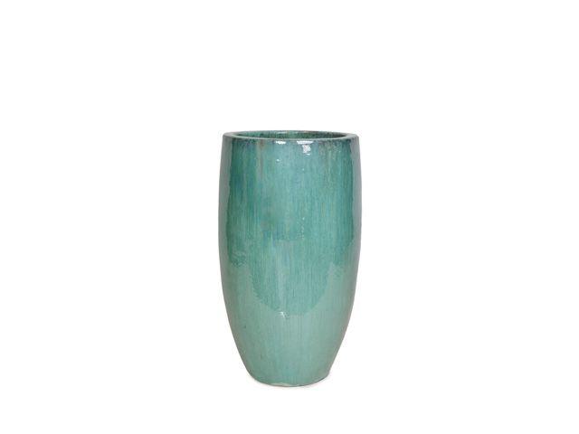 Vaso Vietnamita em Cerâmica Redondo 33x65cm