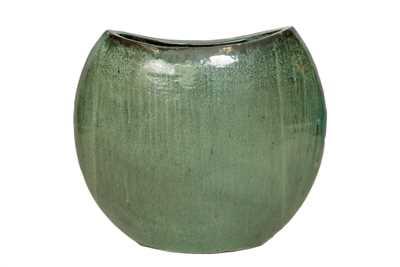 Vaso Vietnamita Oval em Cerâmica 62x32x62cm