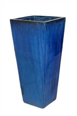Vaso Vietnamita Quadrado em Cerâmica 40x85