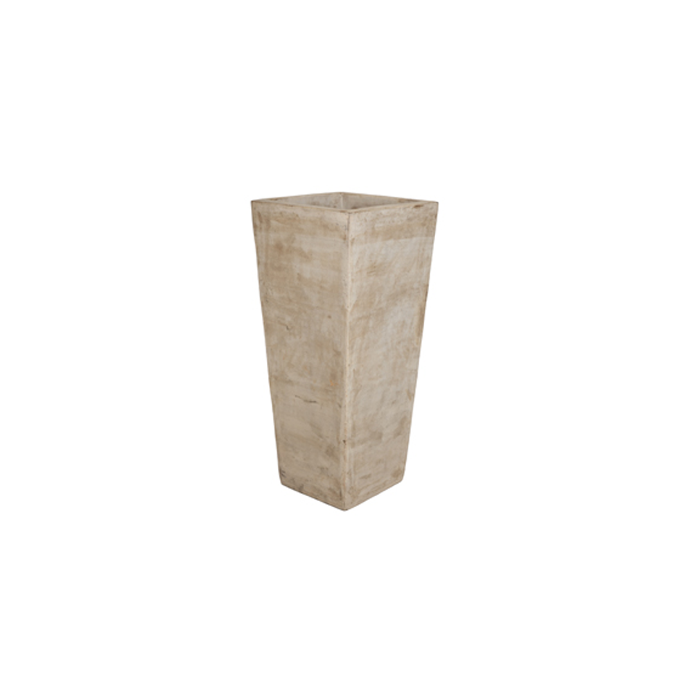 Vaso Vietnamita Quadrado em Terracota 65x30cm