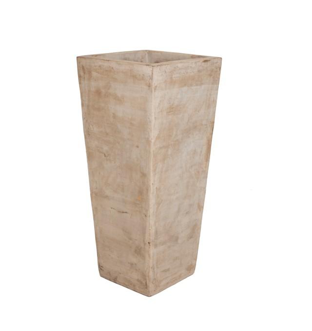 Vaso Vietnamita Quadrado em Terracota 40x40x85