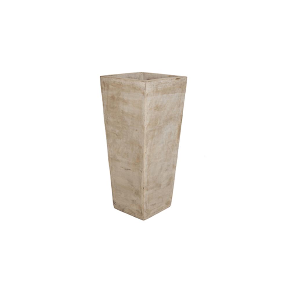 Vaso Vietnamita Quadrado em Terracota 85x40cm