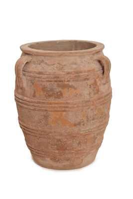Vaso Vietnamita Redondo C/3 alças em Terracota 32x39 cm