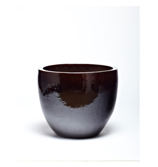 Vaso Vietnamita Redondo em Cerâmica 37x28cm