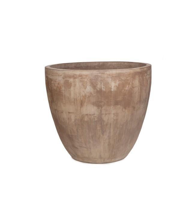 Vaso Vietnamita Redondo em Terracota 70x66 cm